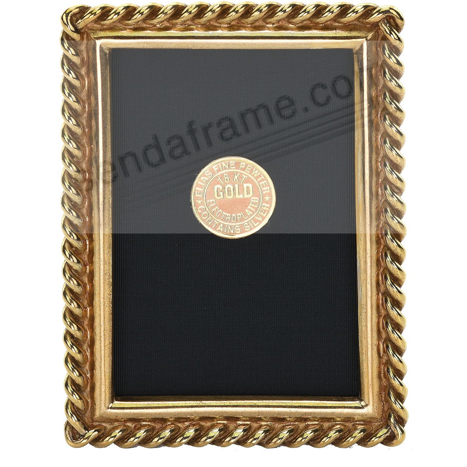 CHAIN 18kt Museum Gold over Pewter frame 2½x3½ by Elias Artmetal®