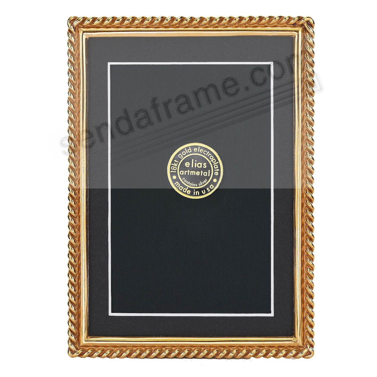 CHAIN 18kt Museum Gold over Pewter frame 5x7/4x6 by Elias Artmetal®