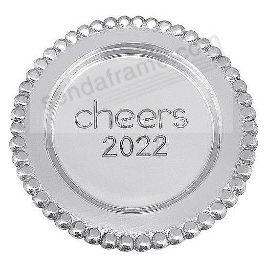 CHEERS 2018 BEADED WINE PLATE crafted by Mariposa®