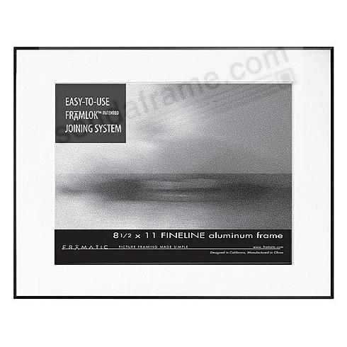 FINELINE Black Aluminum 11x14/8½x11 by Framatic®