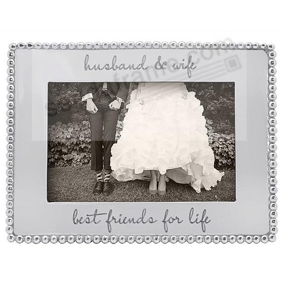 BEST FRIENDS FOR LIFE - BEADED BORDER frame for your 4x6 print by Mariposa®
