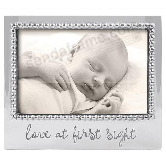 LOVE AT FIRST SIGHT STATEMENT 6x4 frame by Mariposa® - Beautifully Engraveable!