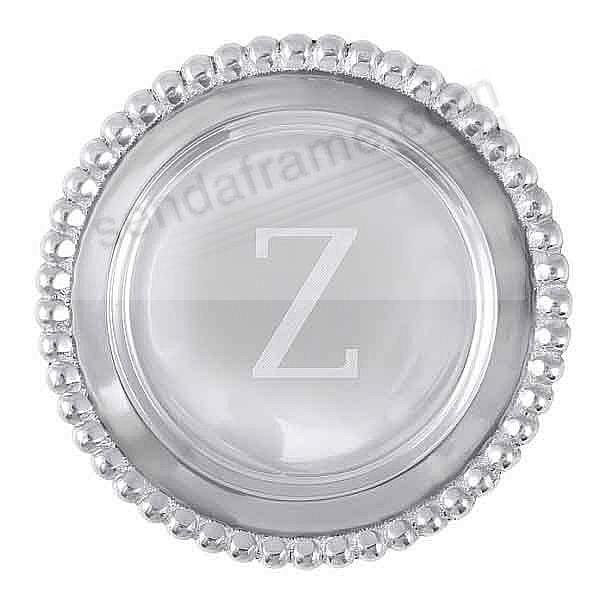 The original BEADED WINE PLATE Engraved -Z- by Mariposa®
