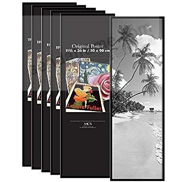 Black plastic POSTER size frame with Corrugated Backing (6-pack)