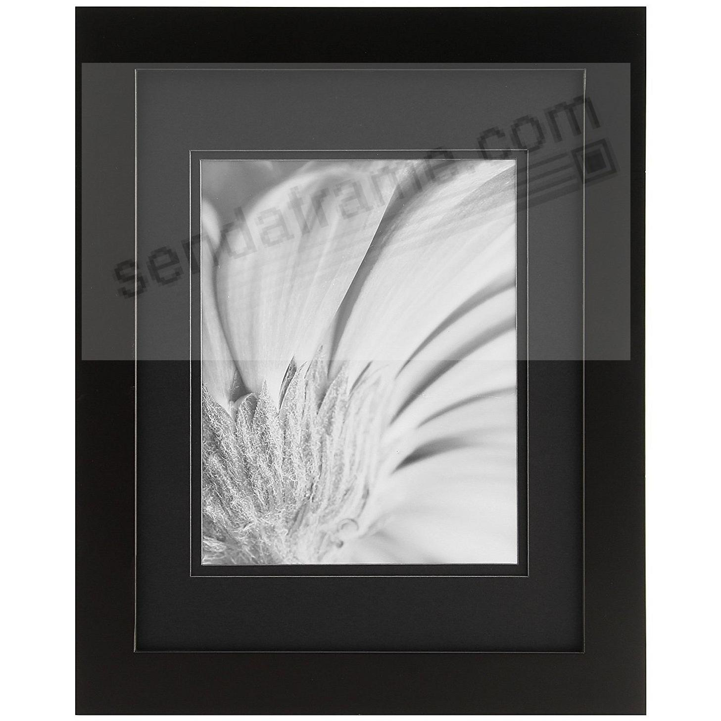 BLACK/Black 11x14/8x10 matted frame by Gallery Solutions™