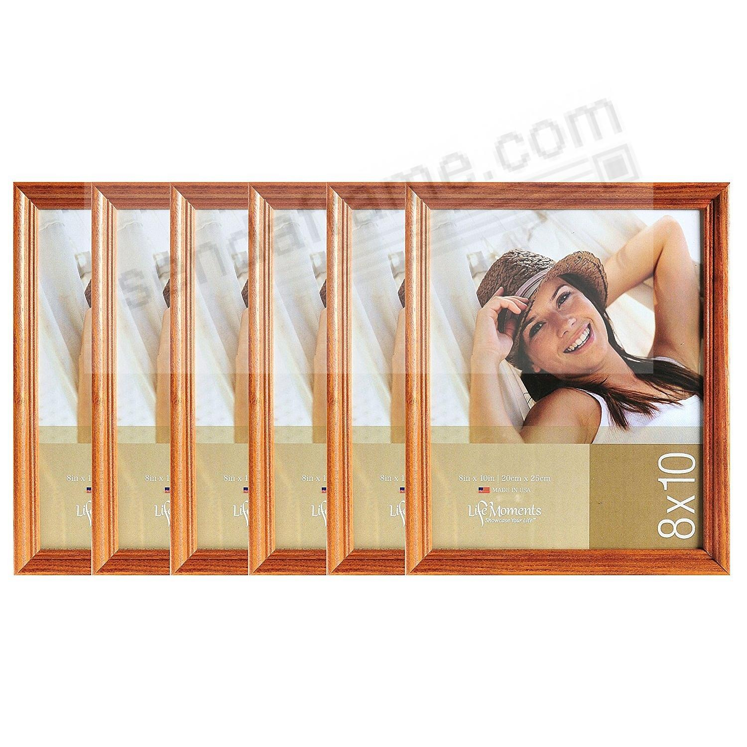 Solid Wood Natural Finish 8x10 favorite by LIFE MOMENTS® (6 Pack)
