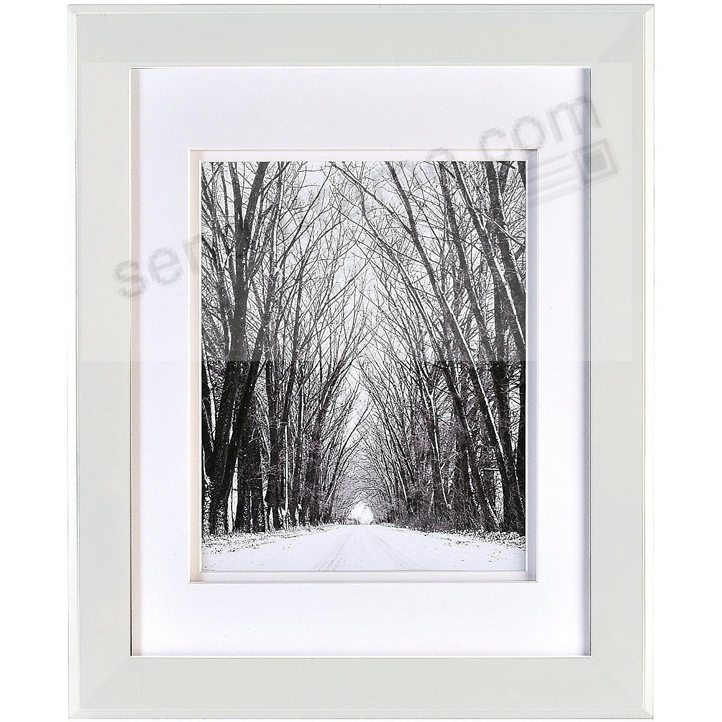 CHELSEA White Wood 8x10/5x7 DBL-Matted Frame from ARTCARE® by ...