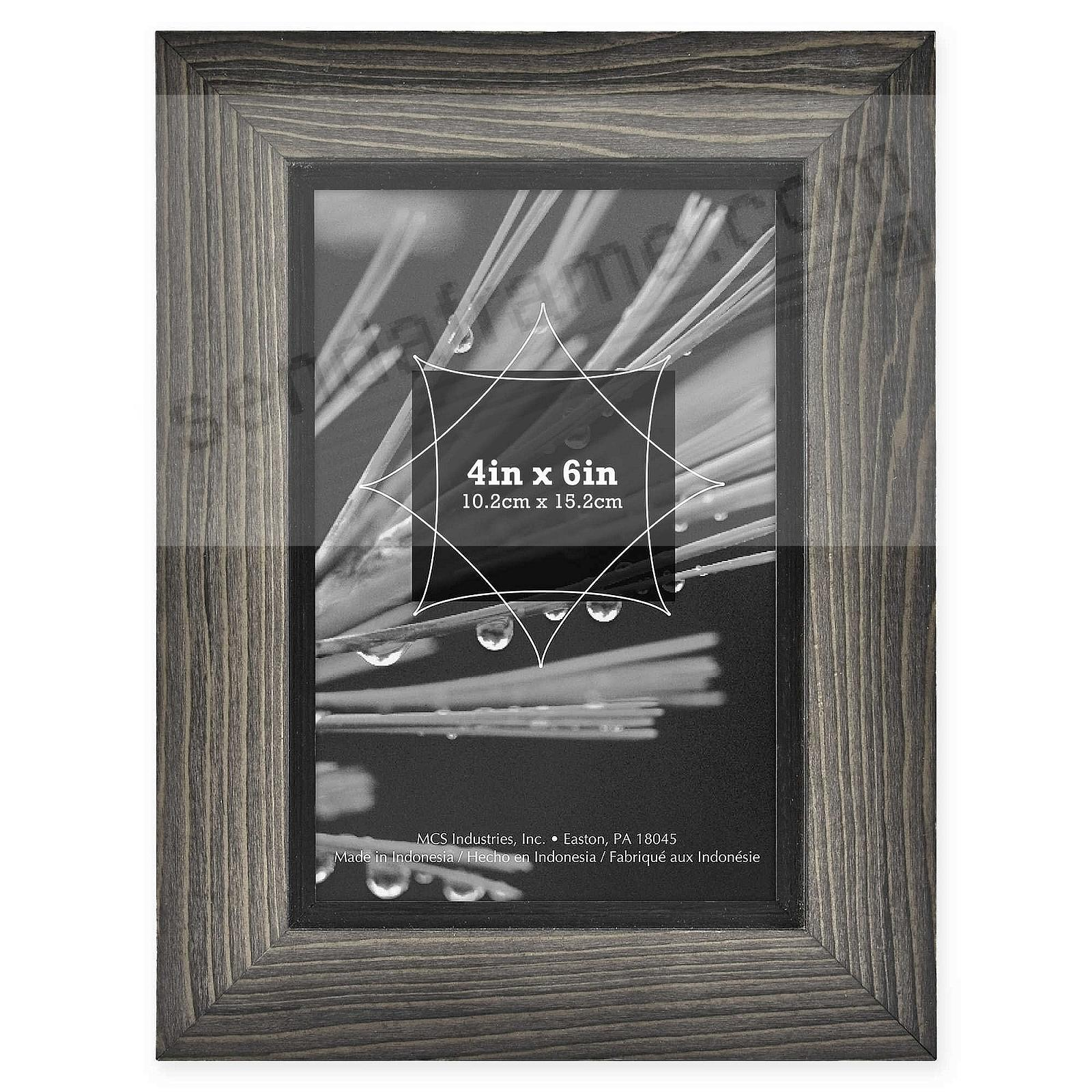 TIMBER Distressed Gray/Black Wood 4x6 Frame by MCS®