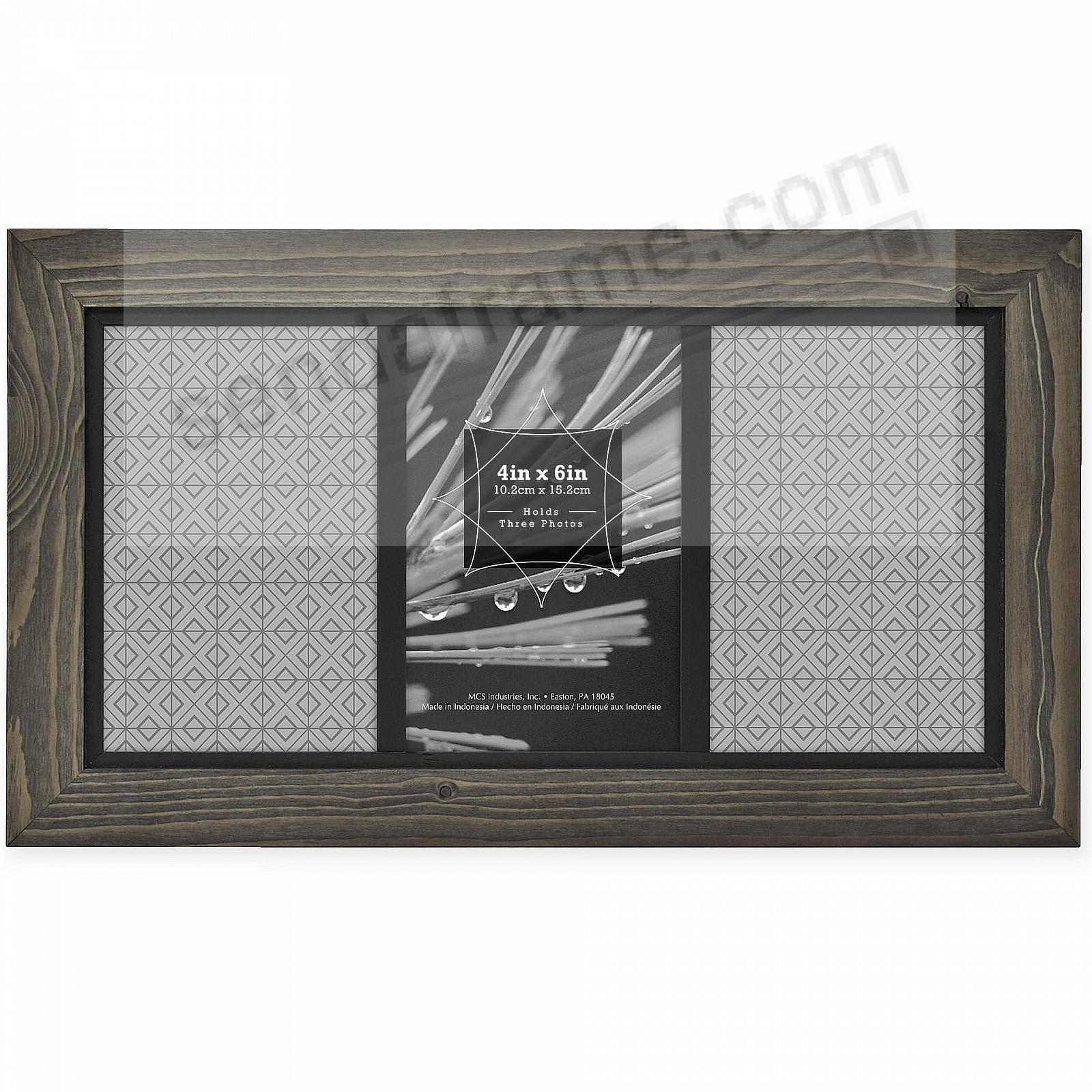 7c41831d2ad3 TIMBER Distressed Gray Black Wood 3-4x6 6x12 Frame by MCS® - Picture ...