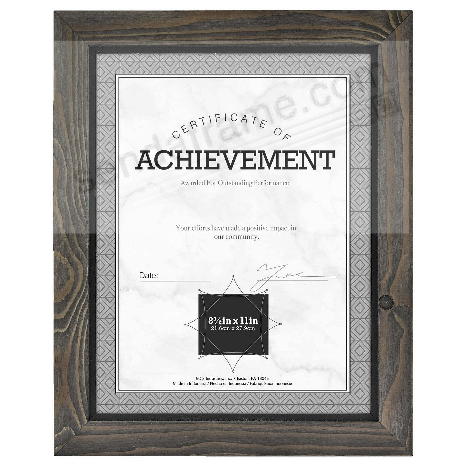 TIMBER Distressed Gray/Black Wood Frame by MCS®