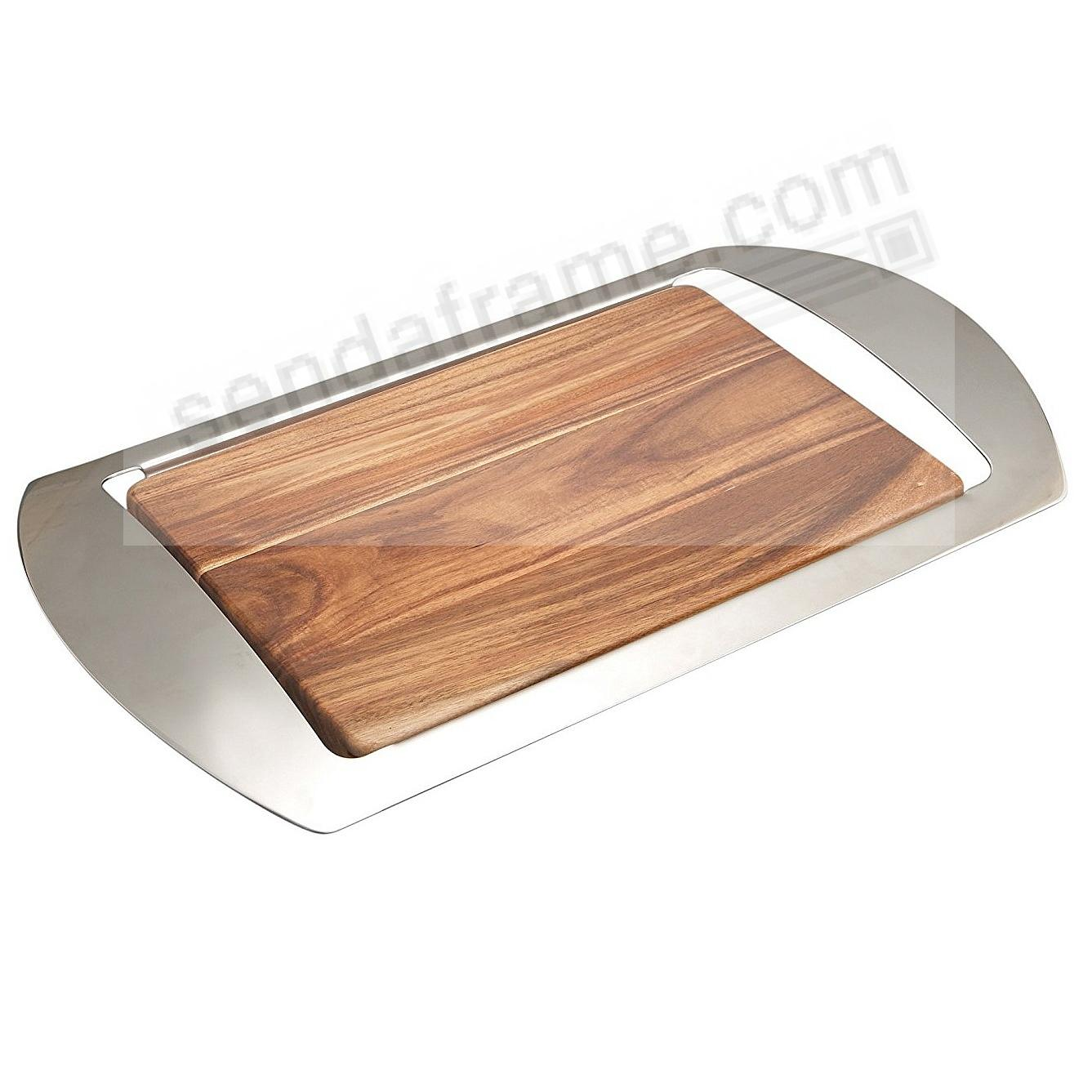 The MIKKO BAR TRAY crafted by Nambe®