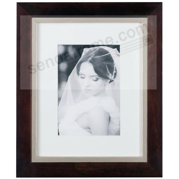 TAYLOR Walnut/Brushed-Gold matted wood frame 8x10/5x7 from ARTCARE by Nielsen®