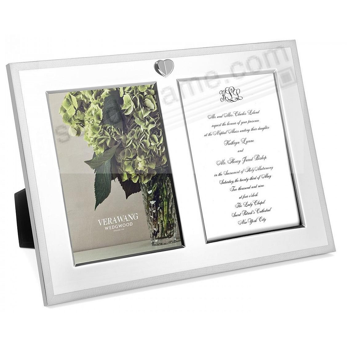 LOVE ALWAYS SILVER HEART DOUBLE INVITATION Frame by Vera Wang Wedgwood®