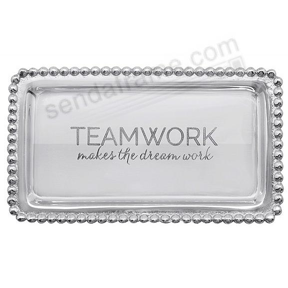 TEAMWORK MAKES THE DREAM WORK STATEMENT TRAY by Mariposa® - Picture ...