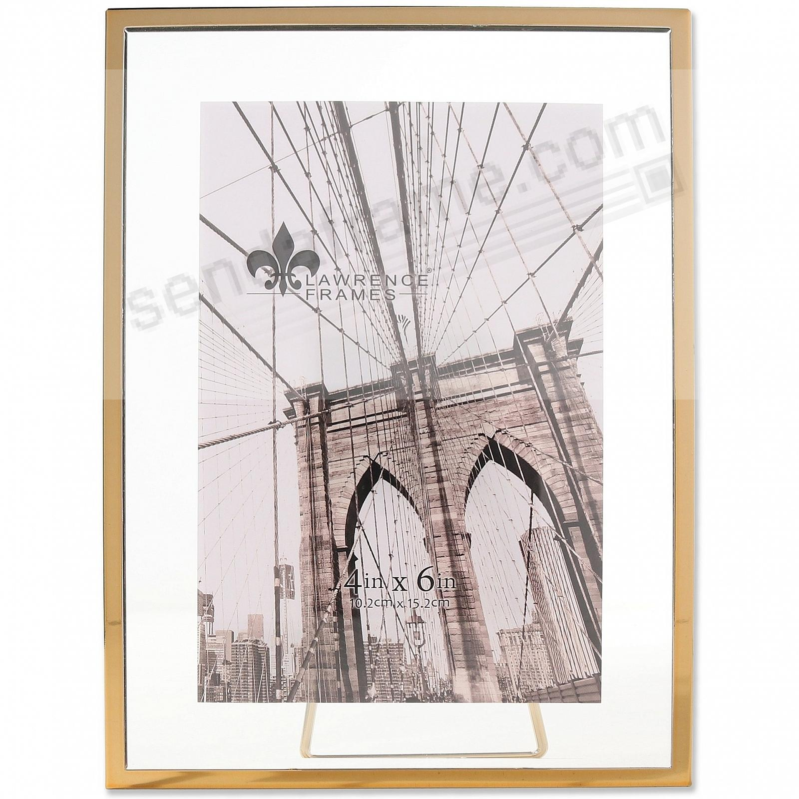 GARETT GOLD Metal Float 4x6 Frame by Lawrence® - Picture Frames ...