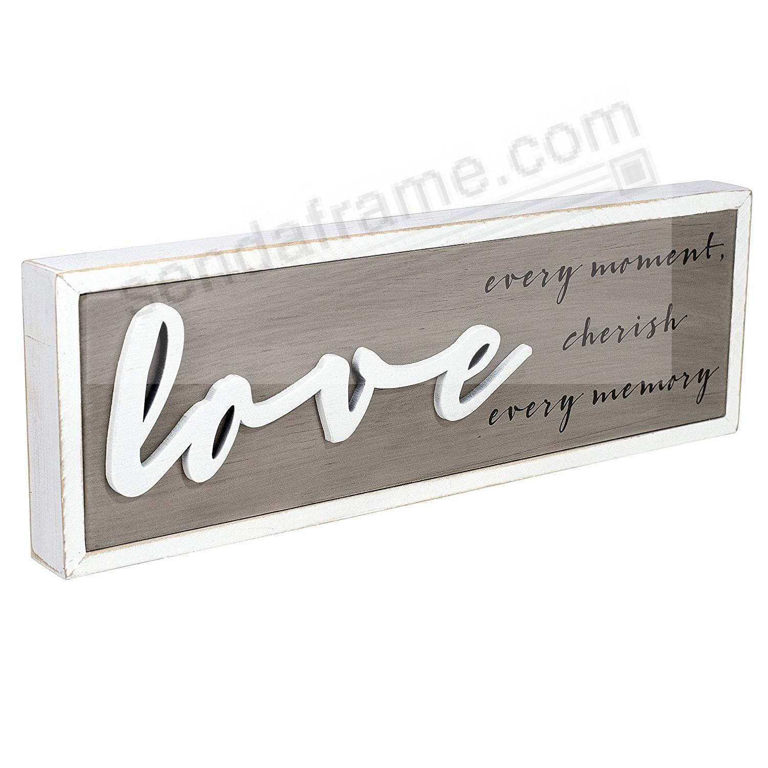 LOVE EVERY MOMENT Box Sign by Malden®