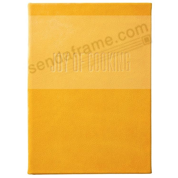 (THE) JOY OF COOKING Full-Grain Nubuck Suede Yellow Leather by Graphic Image™