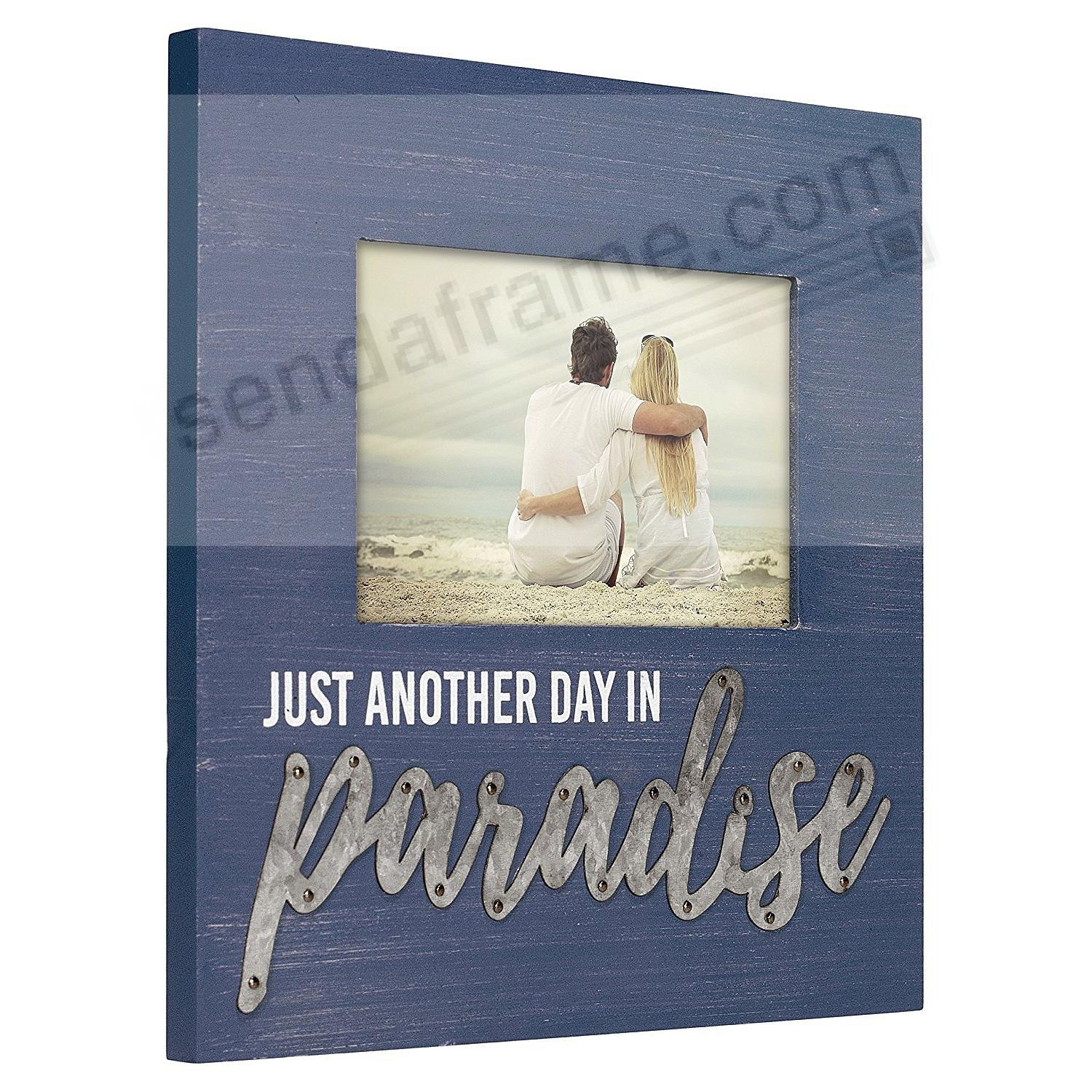 PARADISE w/Galvanized Lettering 4x6 Frame by Malden®