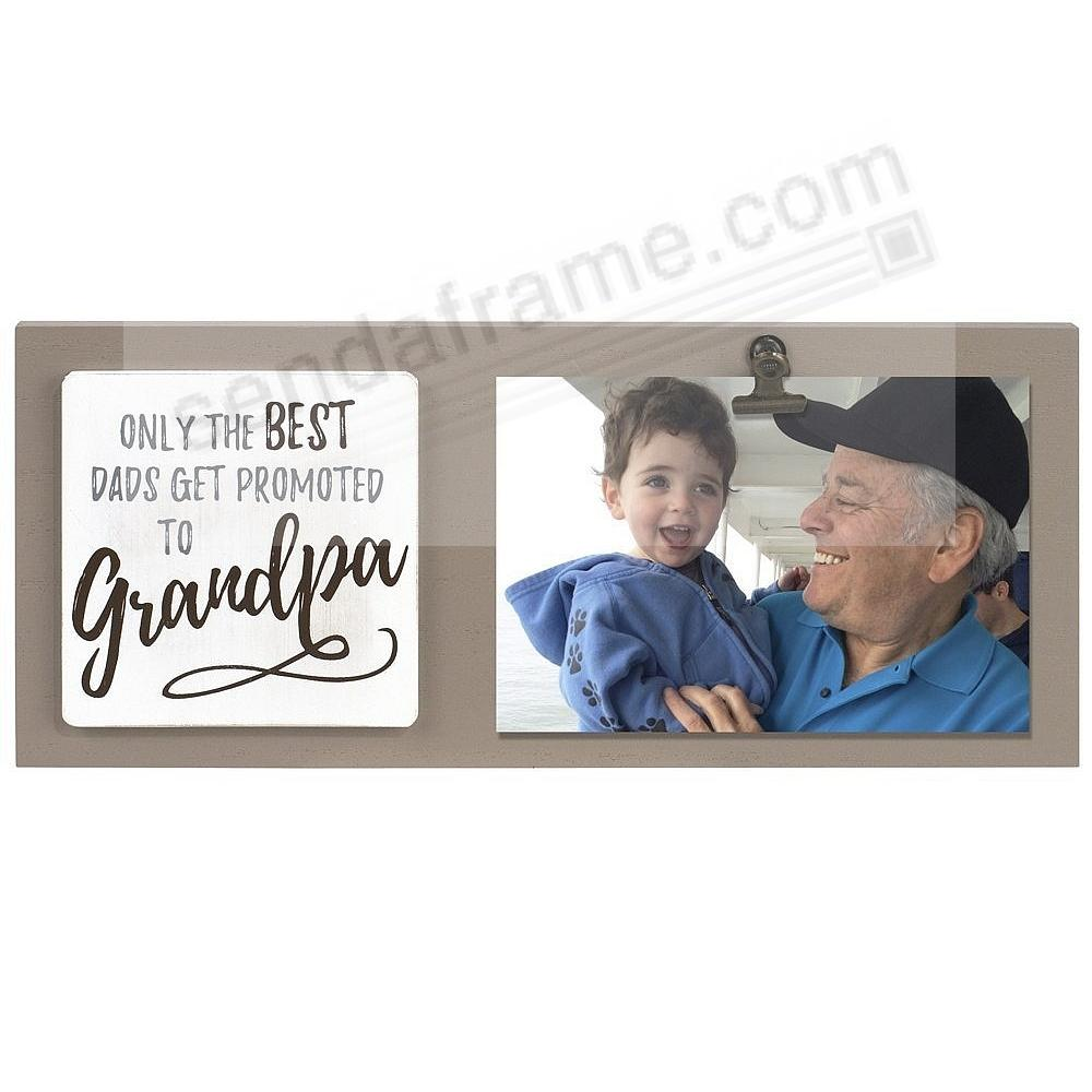 BEST DADS PROMOTED TO GRANDPA Clip Frame by Malden® - Picture Frames ...