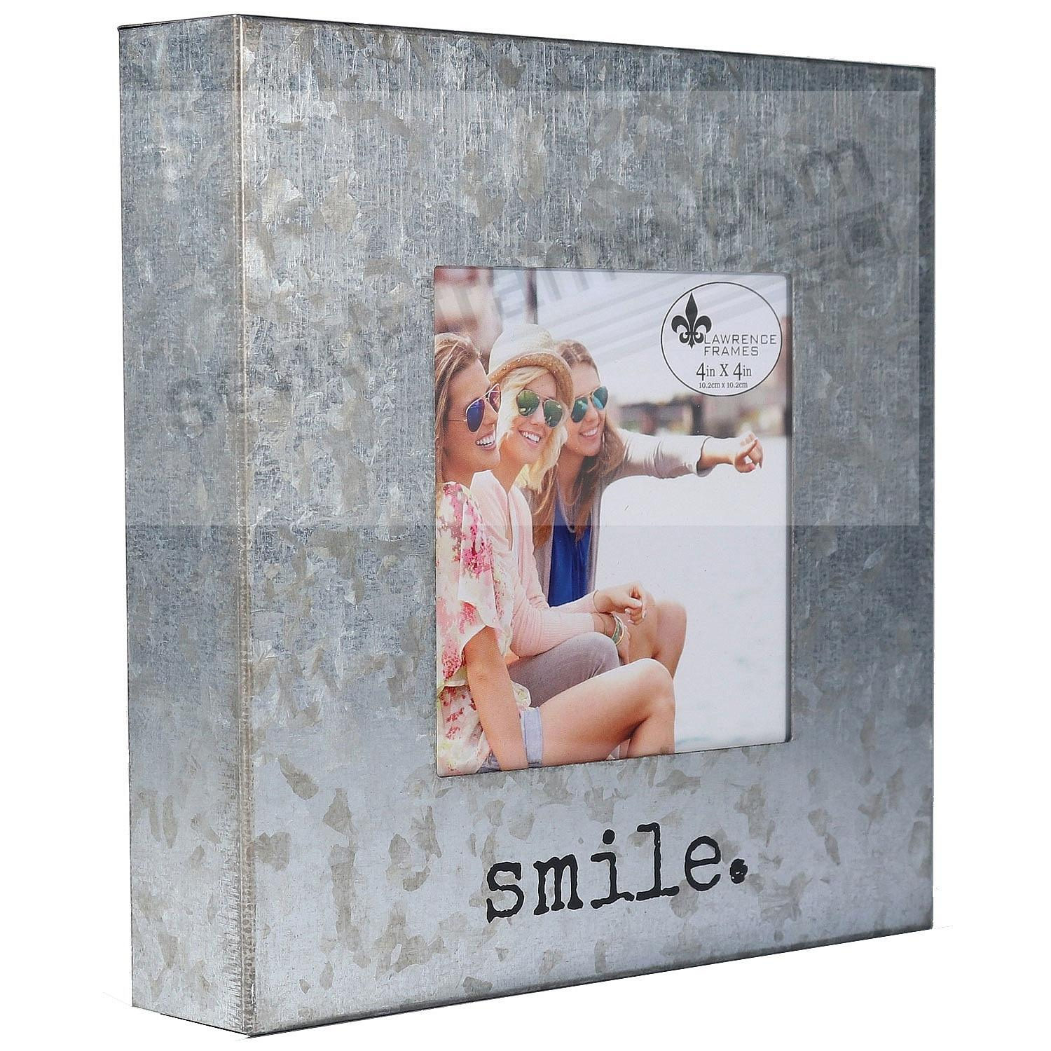 SMILE Galvanized Metallic 4x4 Block Frame