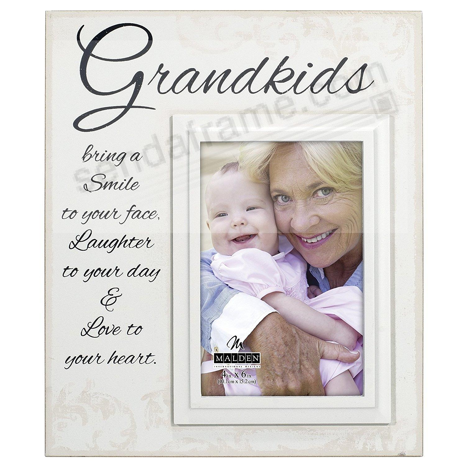 GRANDKIDS Script Expressions Wood 4x6 Frame Sign by Malden®