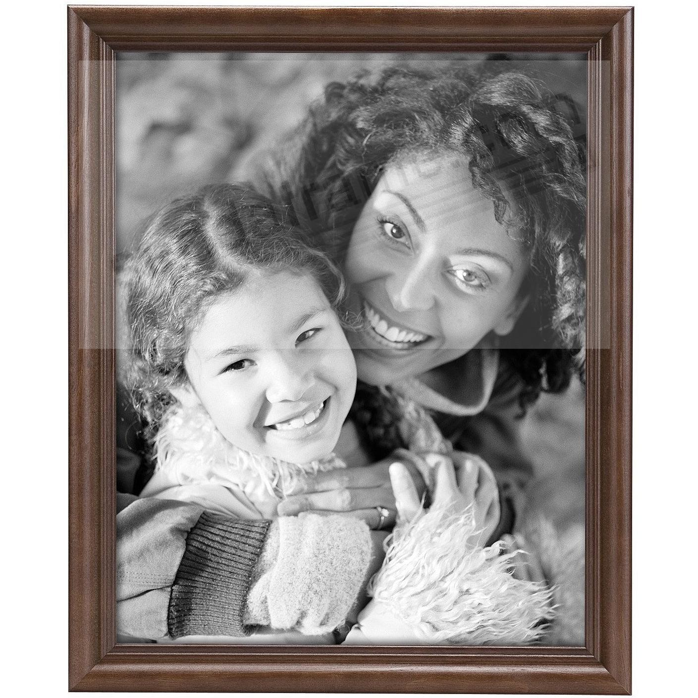 STYLE TWO Solid Wood Walnut 11x14 frame from MCS®