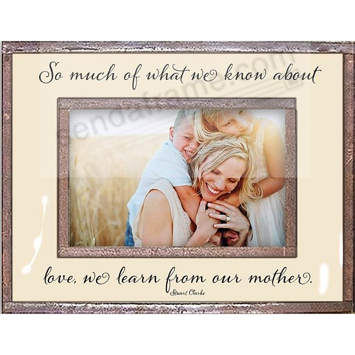 Love - we learn from our mother Copper + Clear Glass by Ben's Garden®
