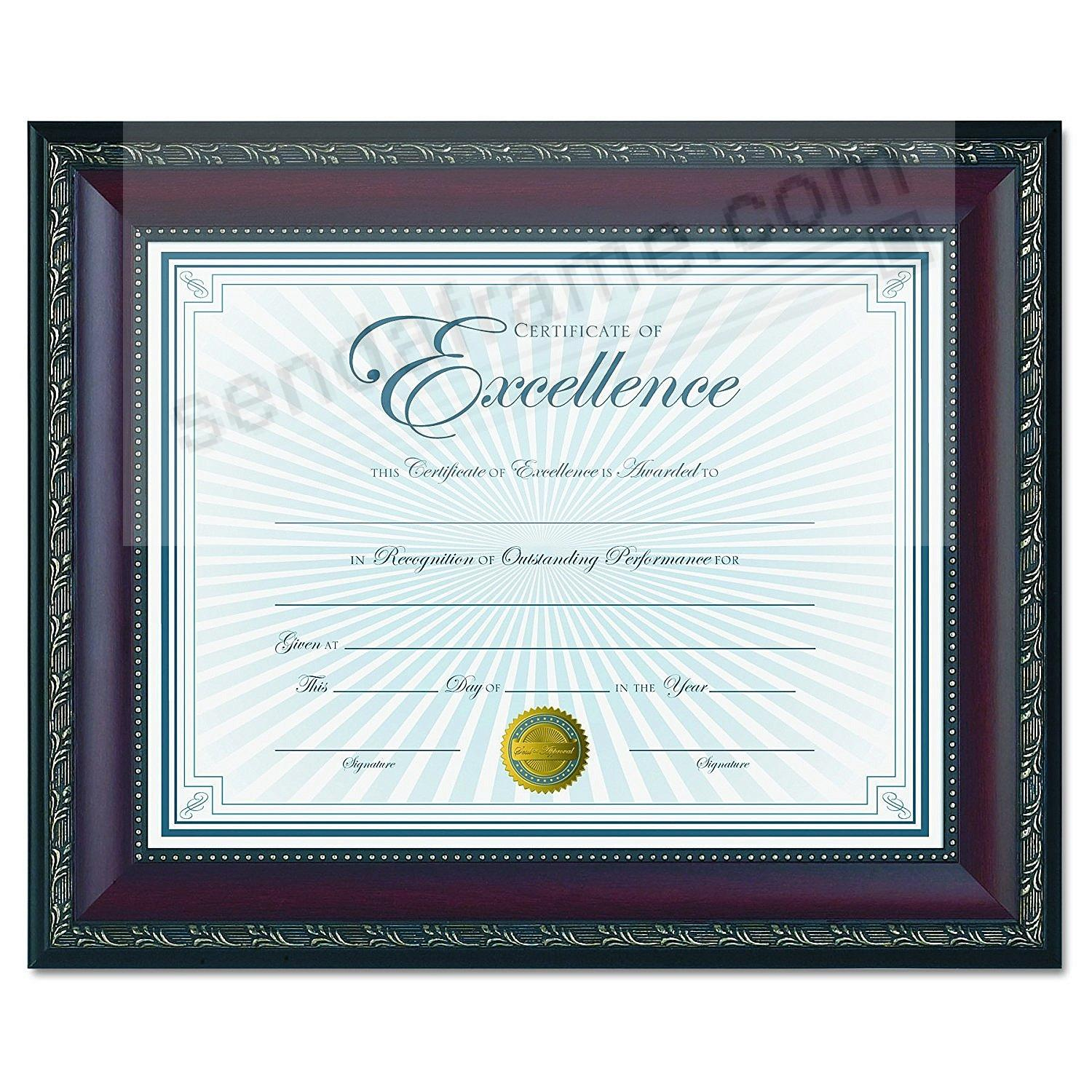 WORLD CLASS Walnut Frame with Certificate by DAX®