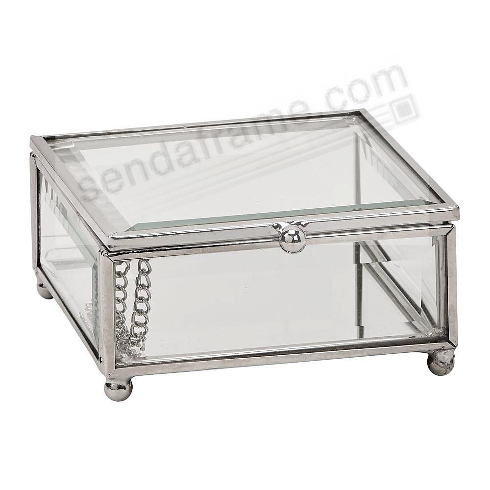 Our Glass / Silver Box 4x4x2 for special item Safekeeping