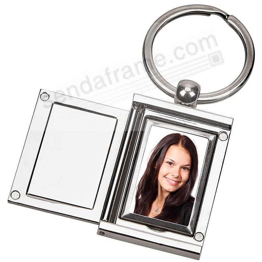 Our RECTANGULAR LOCKET Keyring to keep a favorite photo close at hand