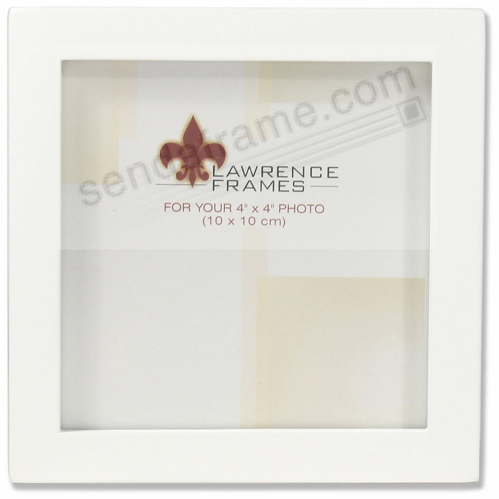 White square-corner frame 4x4 by Lawrence® - Picture Frames, Photo ...