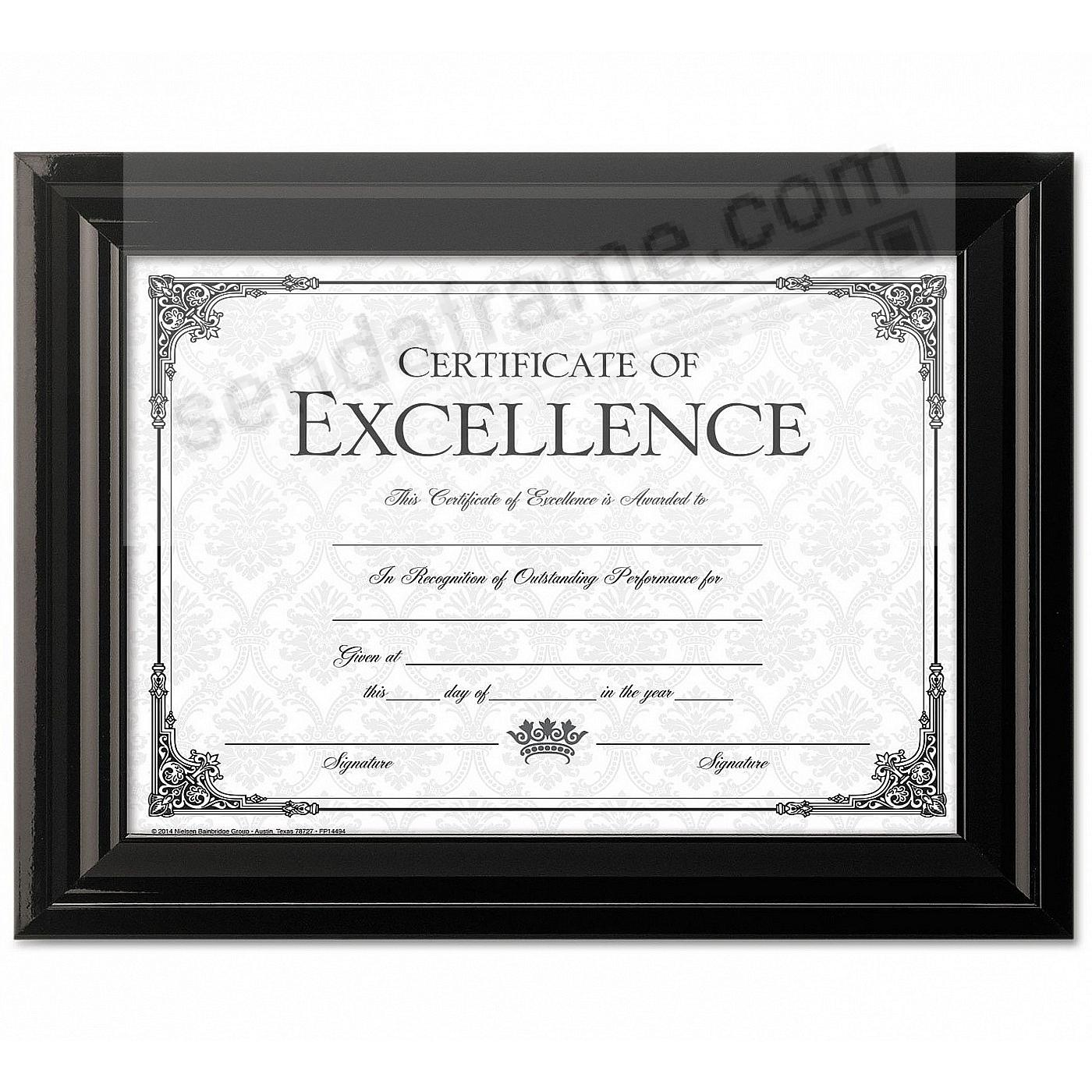 High-Gloss Black Double-Bevel Certificate frame by DAX® - Picture ...