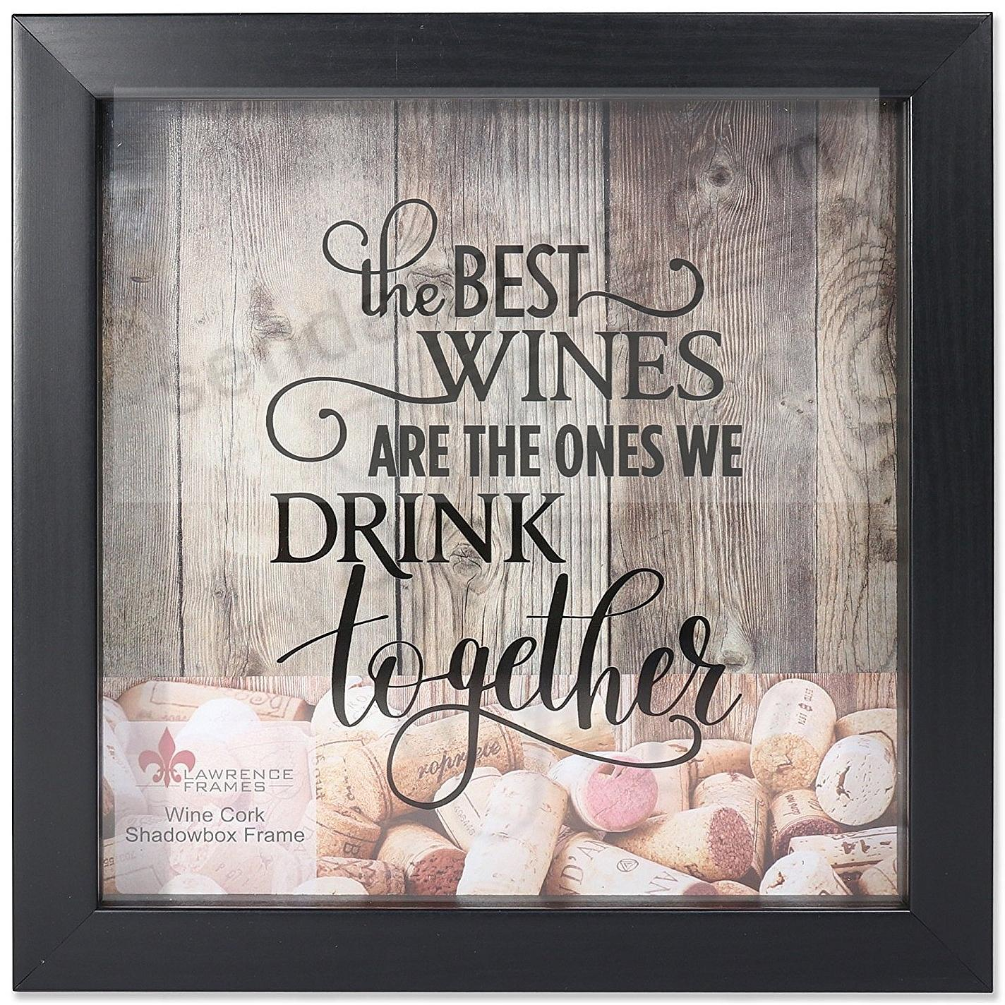 WINE CORK HOLDER Black ShadowBox 10x10 frame by Lawrence® - Picture ...