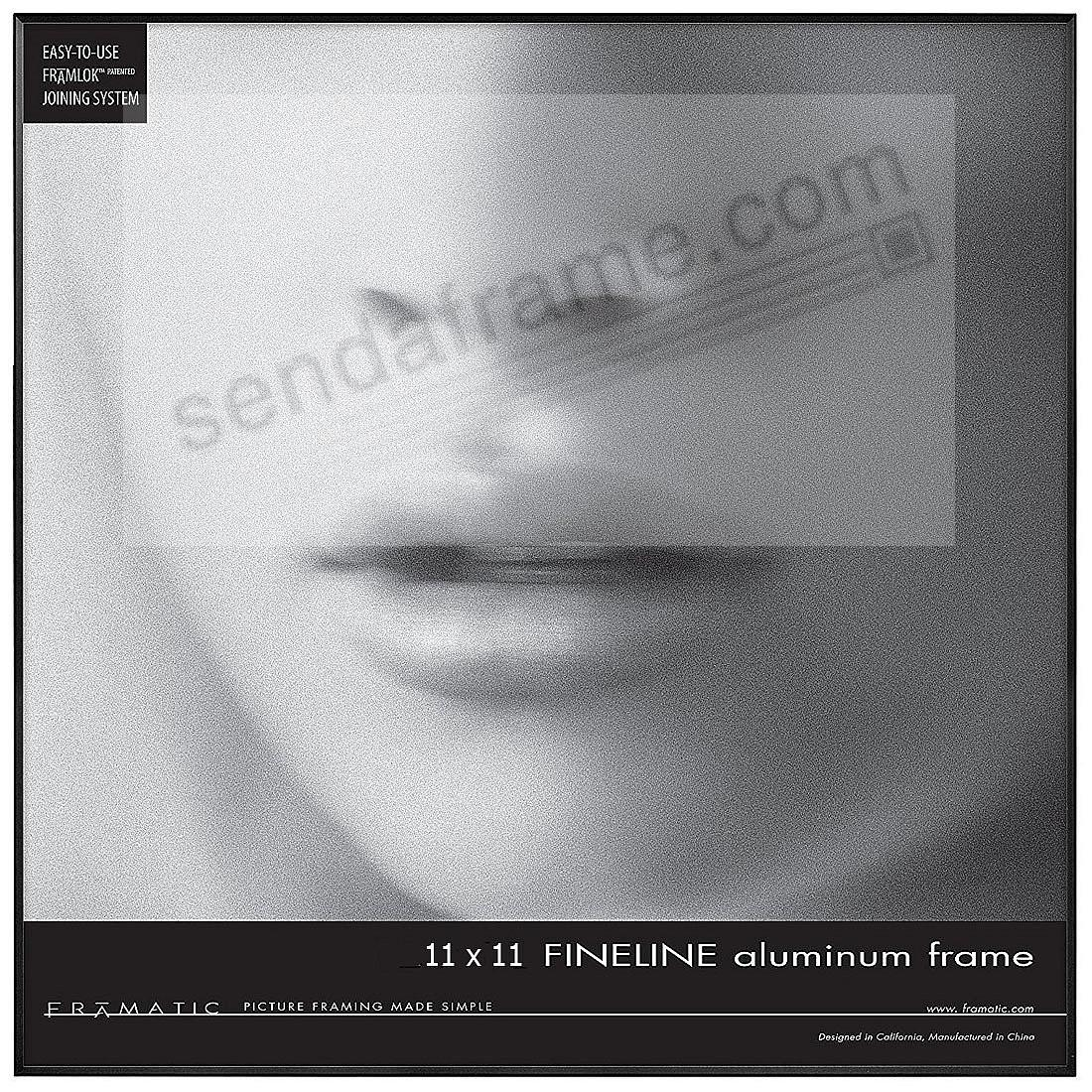 FINELINE Black Aluminum 11x11 by Framatic®