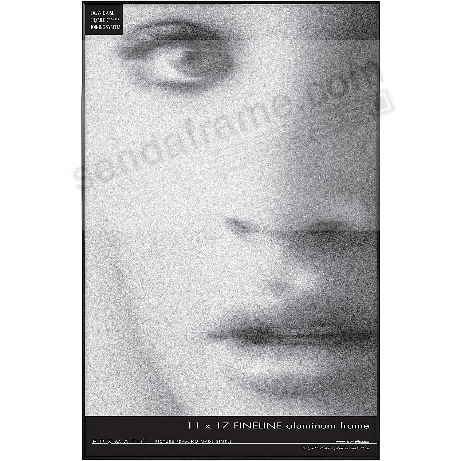 FINE LINE Black Aluminum 11x17 by Framatic®