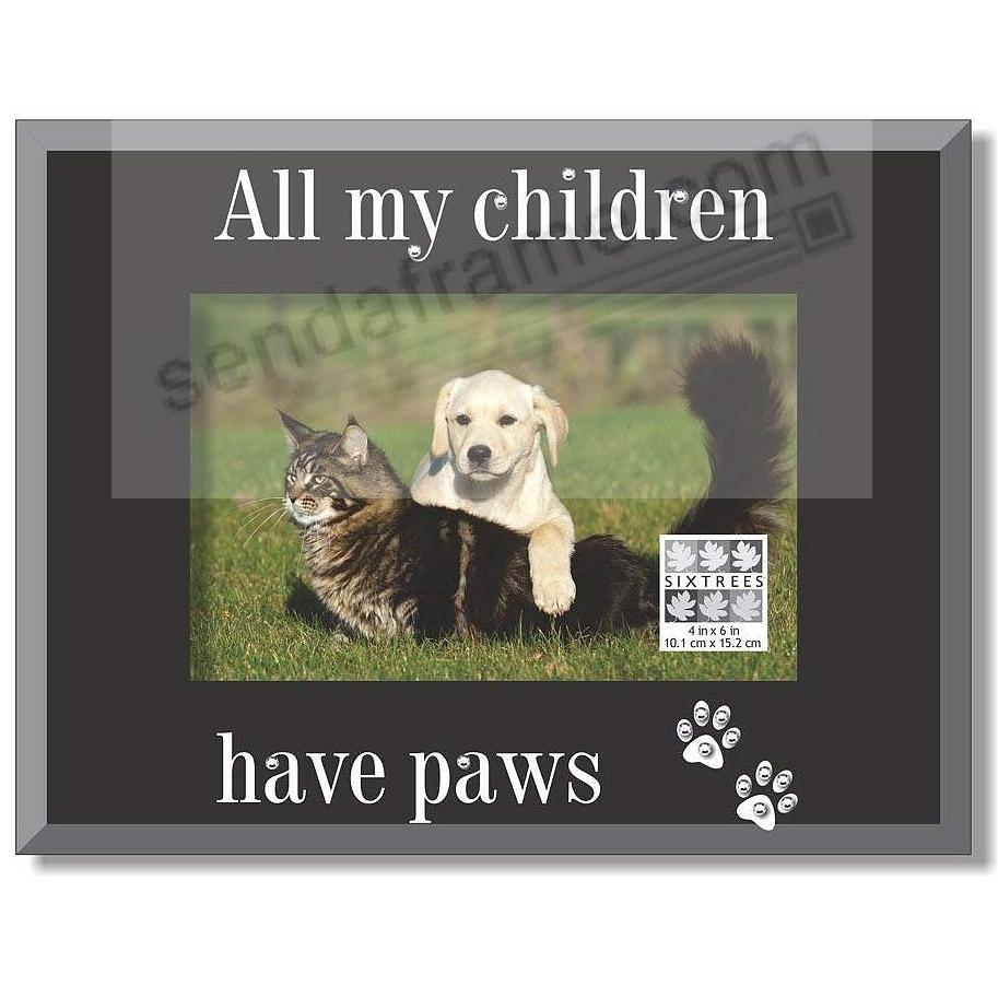 all my children have paws glass expressions keepsake frame picture