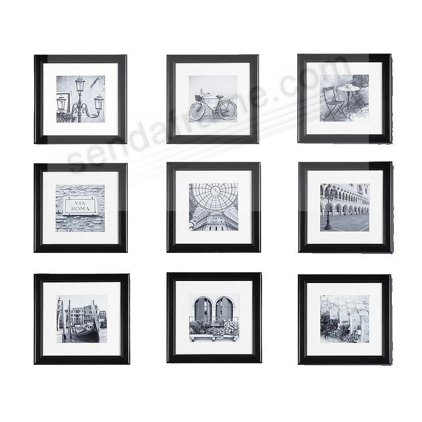 Black Wood Wall Frame 12x12/8x8 matted by Gallery Solutions™ (12 piece kit)
