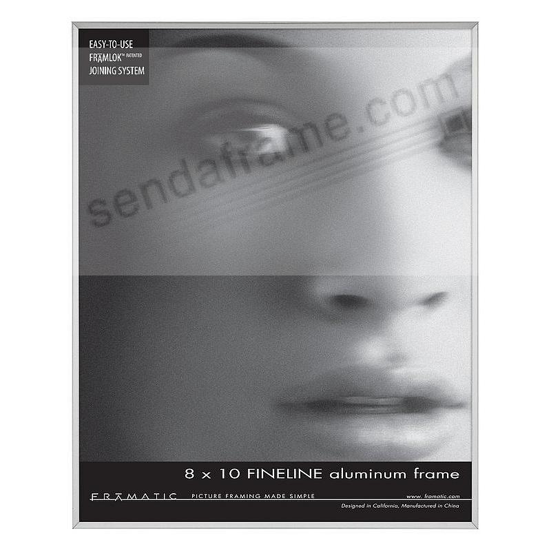 FINE LINE Silver Aluminum 8x10 by Framatic®