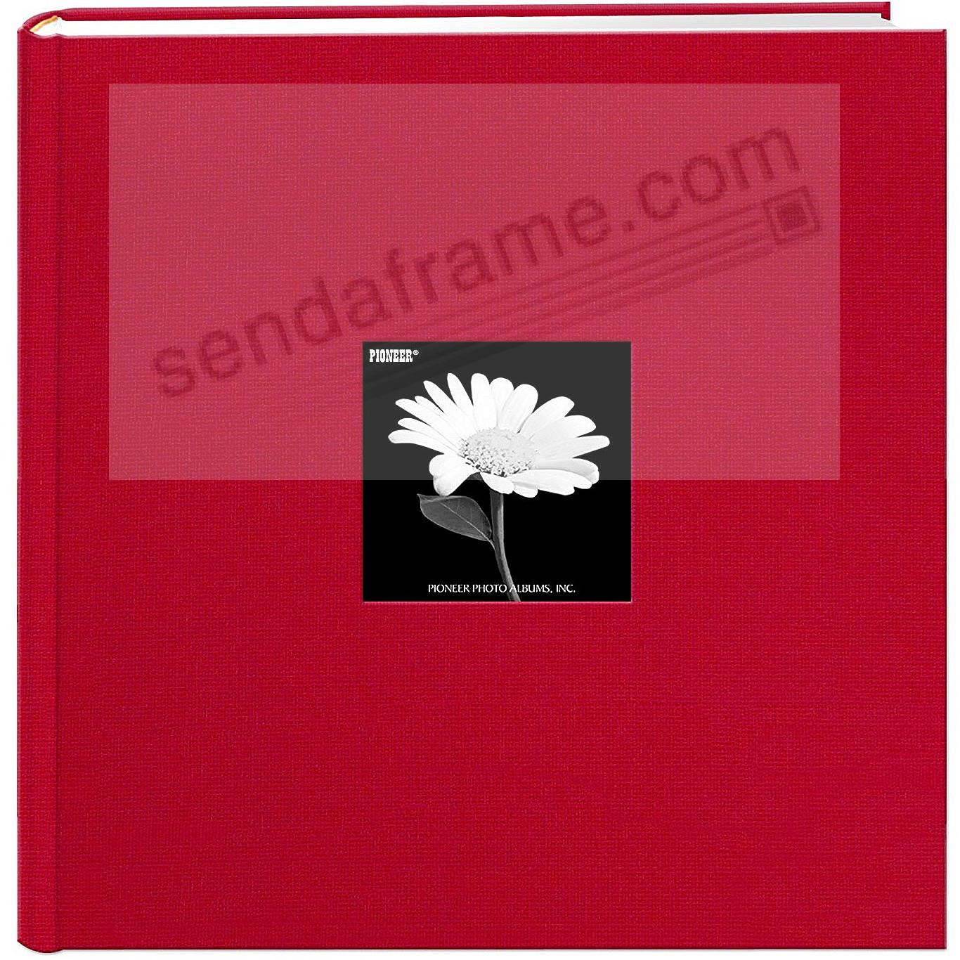 Red Cloth Frame Cover Album shows 10-at-a-time 500 pocket by Pioneer