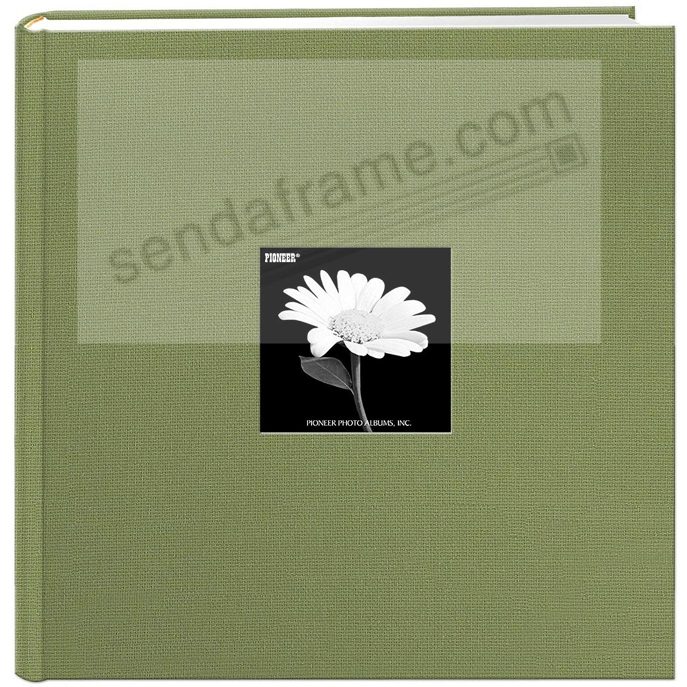 Sage-Green Cloth Frame Cover Album shows 10-at-a-time 500 pocket by Pioneer