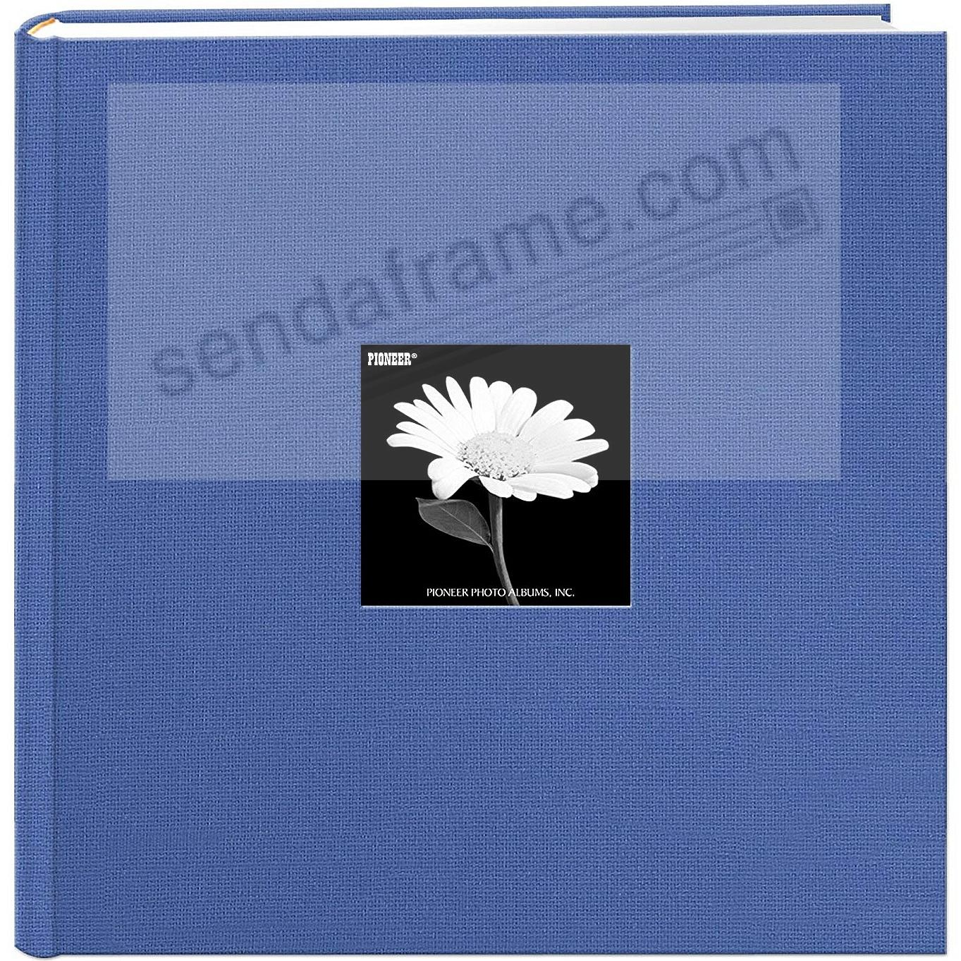 Sky-Blue Cloth Frame Cover Album shows 10-at-a-time 500 pocket by Pioneer
