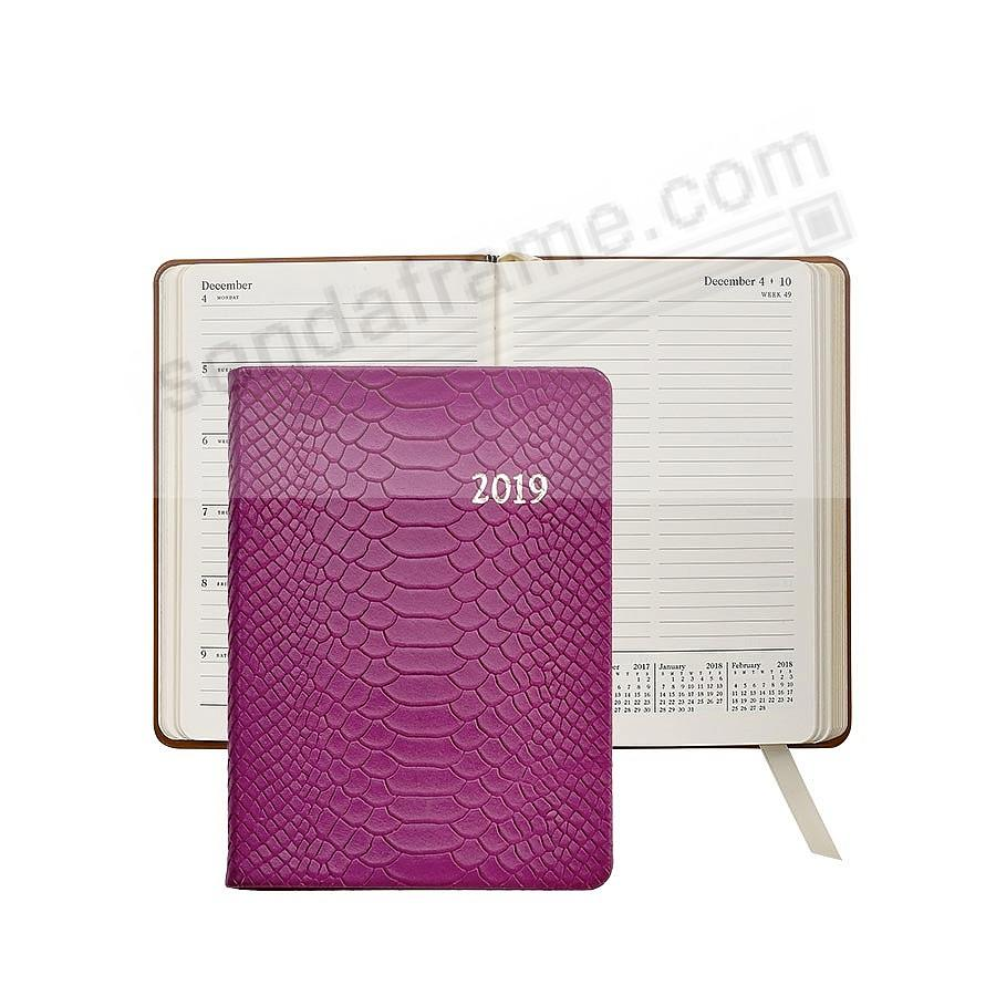 2019 Notebook Planner 7-in MAGENTA Embossed Python by Graphic Image™