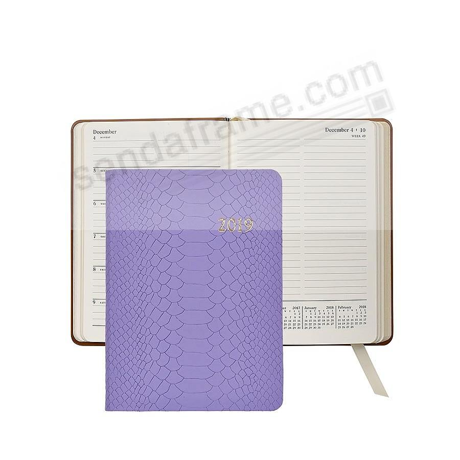 2019 Notebook Planner 7-in LAVENDER Embossed Python by Graphic Image™