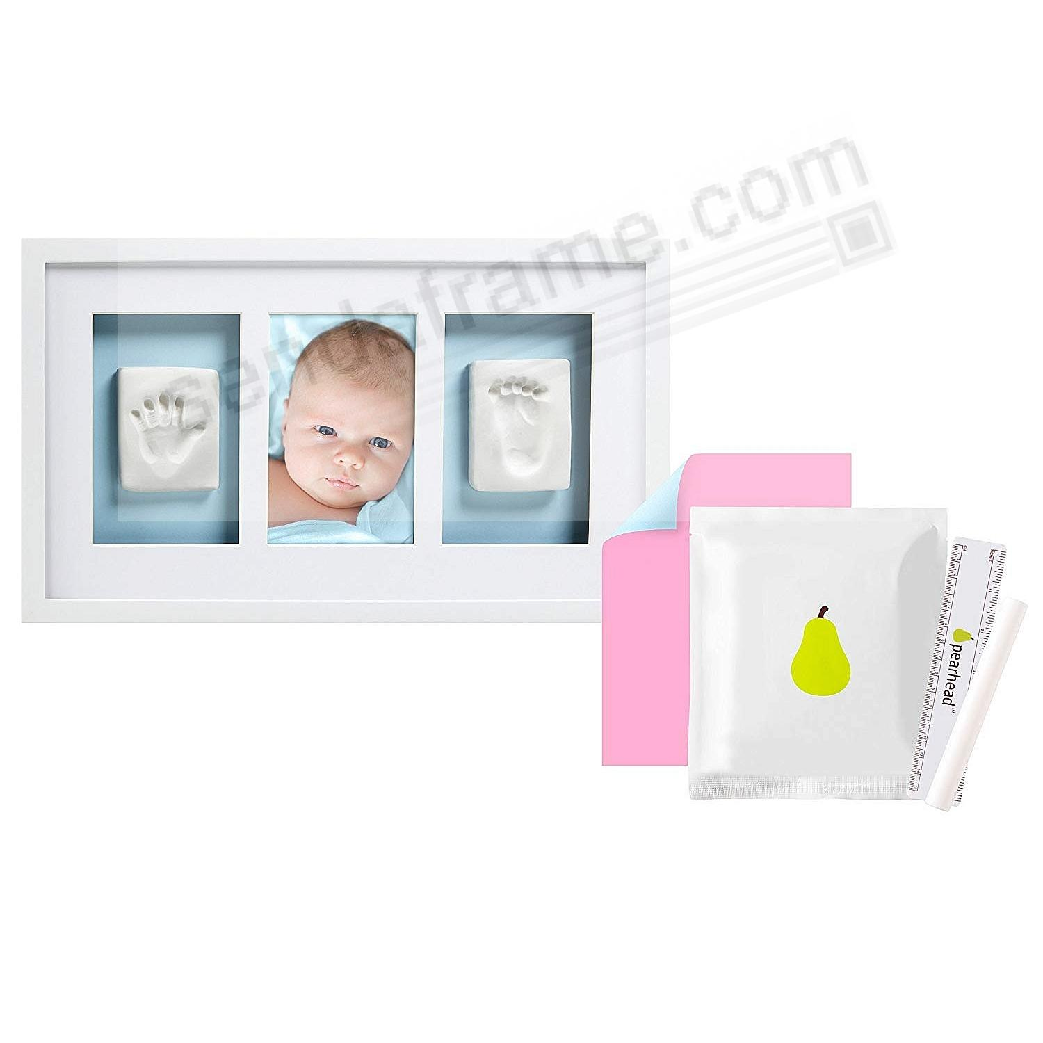 Pearhead® Baby Handprint and Footprint Deluxe Wall Frame + ...