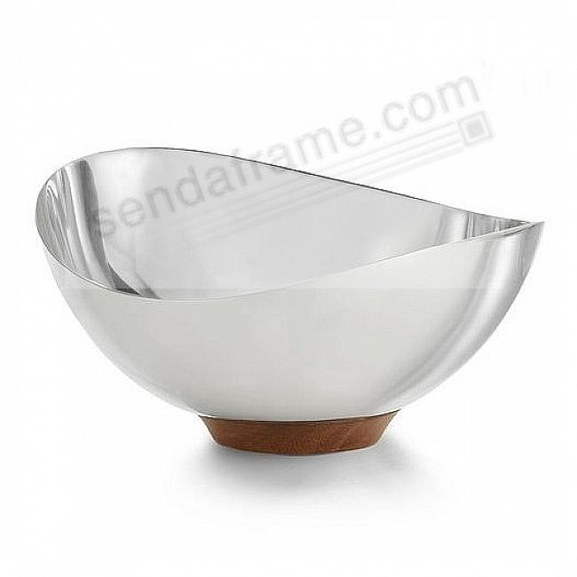 The PULSE NUT BOWL crafted by Nambe®