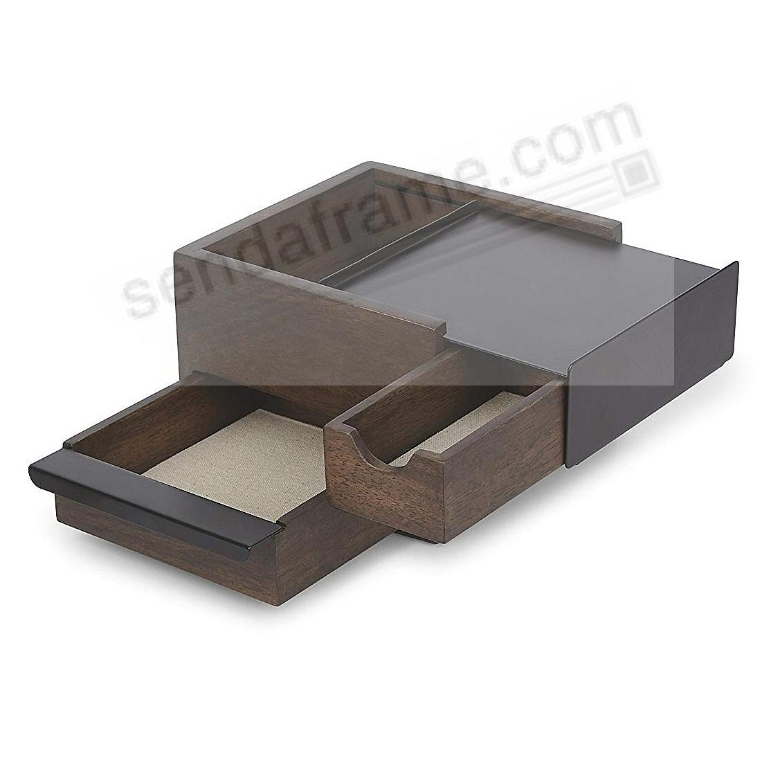 STOWIT MINI WALNUT/BLACK Jewelry + Keepsake Box by Umbra