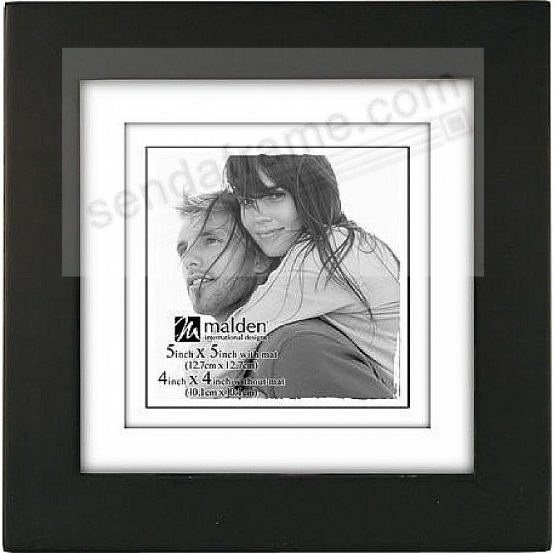 Classic LINEAR Black 5x5/4x4 frame by Malden® - Picture Frames ...