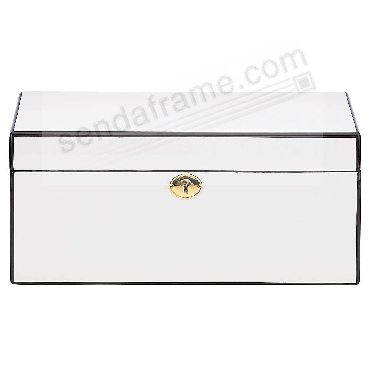 MODERN LINES White Jewelry Box by Reed & Barton®