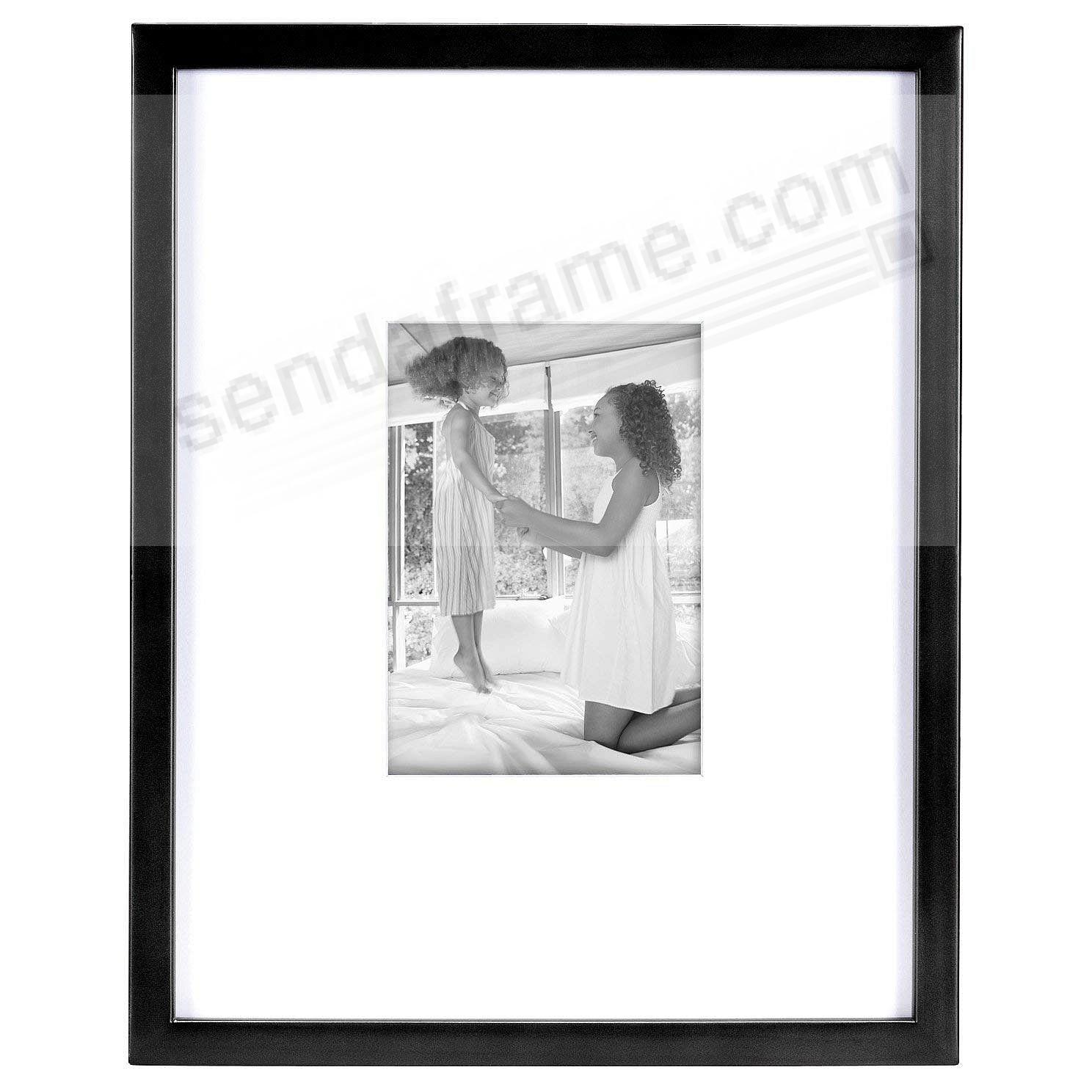 EAST VILLAGE Black Wood 11x14/5x7 Wall Frame from MCS®