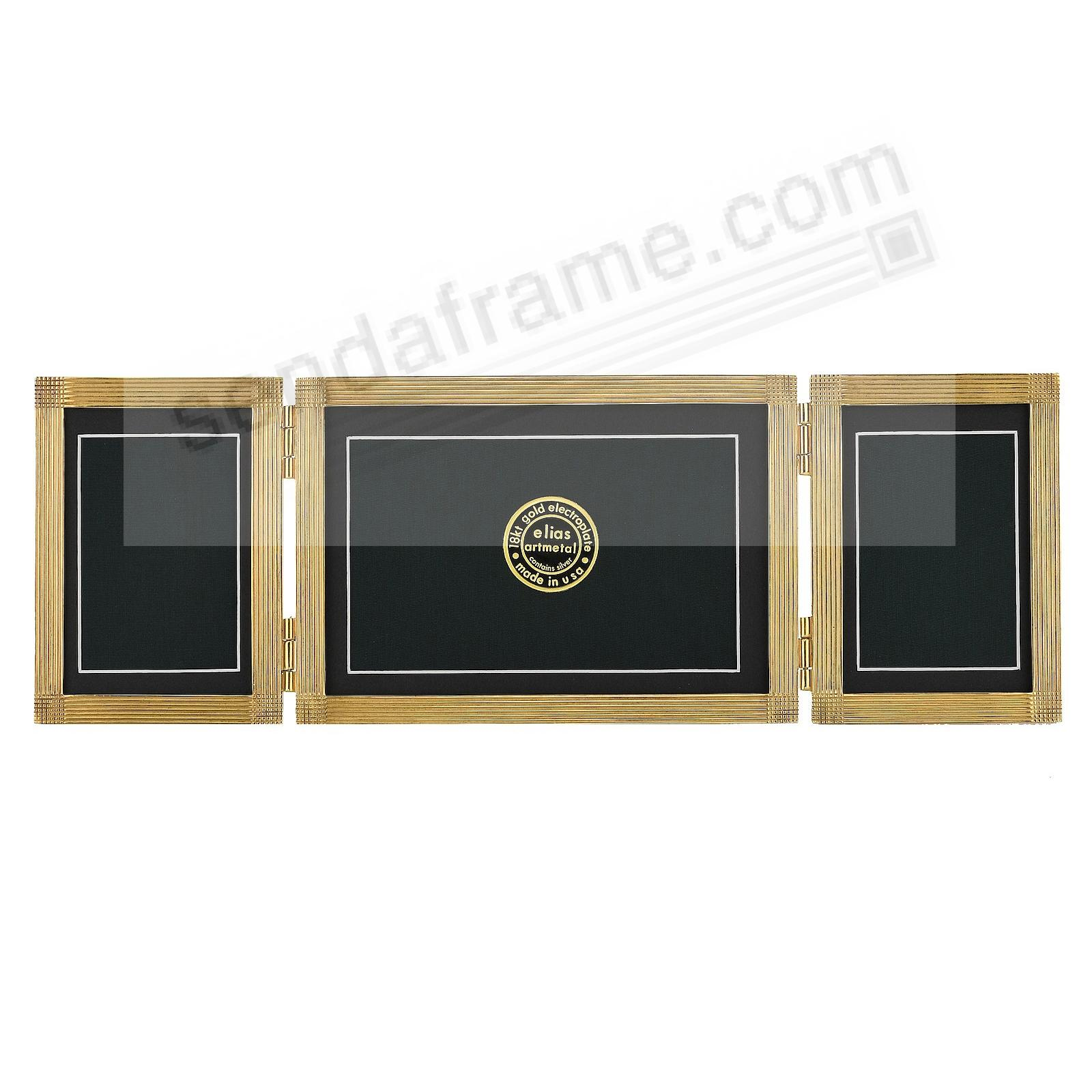 MATRIX TRIPLE luxe 18kt Vermeil Over Fine Pewter 3x4/6x4/3x4 by Elias Artmetal®